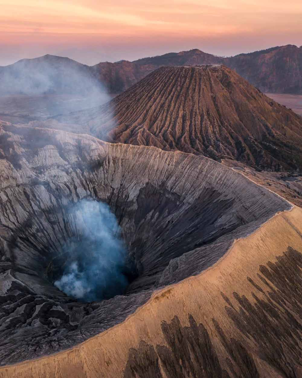 A father-daughter outing up Mount Bromo
