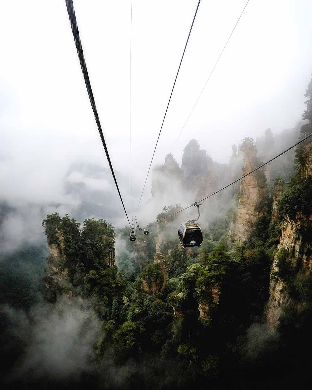 A cable car ride through Zhangjiajie National Park by Sjoerd Bracké